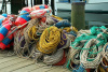"""Maine Buoys Rope on Dock"" by Ron Edwards"